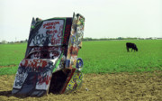 Cadillac Ranch Photos - Route 66 - Cadillac Ranch by Frank Romeo
