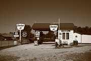 West Paris Framed Prints - Route 66 Gas Station Framed Print by Frank Romeo
