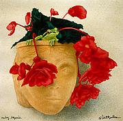 Ruby Begonia Print by Will Bullas