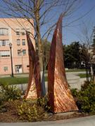 Copper Sculpture Sculptures - Rustic Embrace  by Peter Piatt