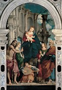 Playing Angels Framed Prints - Sacchis Giovanni Antonio De Known As Il Framed Print by Everett