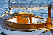 Boats Tapestries Textiles - Sailboat by John Greim