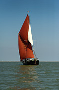 Old And New Photo Prints - Sailing barge Print by Gary Eason
