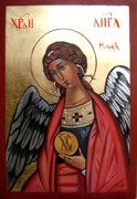Orthodox  Painting Originals - Saint Michael by Filip Mihail
