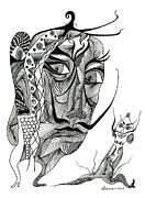Alter Ego Framed Prints - Salvador Dali with his Alter-Ego Framed Print by Genia ggXpress