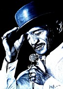 False Drawings Prints - Sammy Davis Jr Print by Jim Fitzpatrick