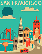 San Francisco Print by Jazzberry Blue