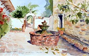 Terra Paintings - San Juan Capistrano Mission  by Gail Sellers