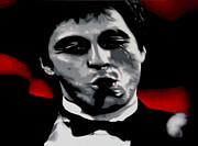Al Pacino Paintings - Scarface 2013 by Luis Ludzska