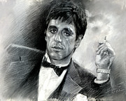 Gangster Drawings - Scarface by Viola El