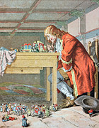 Childrens Book Prints - Scene from Gullivers Travels Print by Frederic Lix