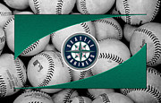 Baseball Bat Metal Prints - Seattle Mariners Metal Print by Joe Hamilton