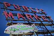 Seattle Market Sign Print by Brian Jannsen