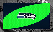 Offense Framed Prints - Seattle Seahawks Framed Print by Joe Hamilton