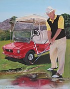 Arizona Golfer Prints - Second Thoughts Print by Debra Chmelina