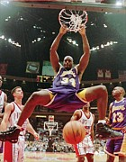 Lakers Prints - Shaquille ONeal Poster Print by Sanely Great