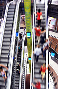Escalator Art - Shopping abstact by Michal Bednarek
