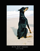 Doberman Art Posters - Sing To Me Poster by Rita Kay Adams