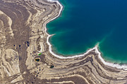 Sink Hole Framed Prints - Sinkholes In Northern Dead Sea Area Framed Print by Ofir Ben Tov