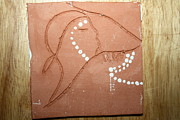 Ugandan Ceramicist Ceramics Prints - Sleep - tile Print by Gloria Ssali