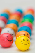 Row Photos - Smiley Face Gum Balls by Amy Cicconi