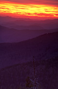 Receding Posters - Smokies Sunset Poster by Andrew Soundarajan