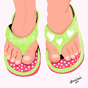 Pop Art Drawings - Sophias Sandals by Author and Photographer Laura Wrede