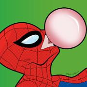 Spiderman  Print by Mark Ashkenazi