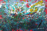 Abstract Expressionist Posters - Spring Has Sprung Poster by Donna Blackhall