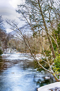 Williams Prints - Spring Snow Williams River  Print by Thomas R Fletcher