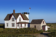Keepers House Photos - Stage Harbor Lighthouse by John Greim