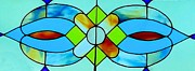 Print Glass Art Metal Prints - Stained Glass Window Metal Print by Janette Boyd