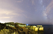 Castelo Metal Prints - Starry Sky at Praia do Castelo Metal Print by Andre Goncalves