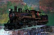 Signed Photo Prints - Steam Locomotive Print by Gunter Nezhoda