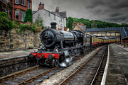 Western Digital Art Metal Prints - Steam Train Metal Print by Adrian Evans