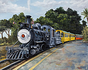 Smoke Painting Originals - Sugar Cane Train by Darice Machel McGuire