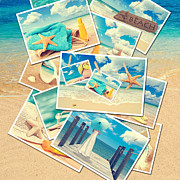 Sand Photography Prints - Summer Postcards Print by Christopher and Amanda Elwell