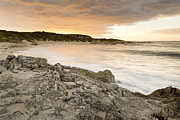 Tim Hester Metal Prints - Sunset Beach Metal Print by Tim Hester