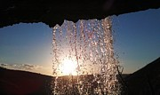 Faouzi Taleb - Sunset Behind a Waterfall