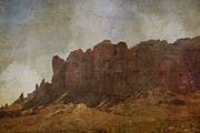 Crosswalk Digital Art - Superstition Mountains by Beverly Guilliams