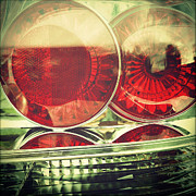 Stylish Car Prints - Tail lights Print by Les Cunliffe