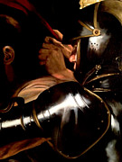 Caravaggio Paintings - Taking of Christ detail by Massimo Tizzano