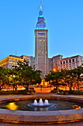 Amazing Sunset Framed Prints - Terminal Tower Framed Print by Robert Harmon