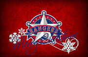 Rangers Prints - Texas Rangers Print by Joe Hamilton