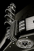 Texas Theatre Framed Prints - Texas Theatre Marquee Framed Print by John Babis