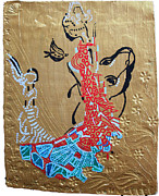 Africa Dinka Paintings - The Annunciation by Gloria Ssali