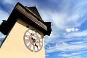 Styria Photos - The Clock tower in Graz	 by Michael Osterrieder