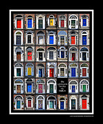Dublin Prints - The Georgian Doors of Dublin Print by Joe Paul