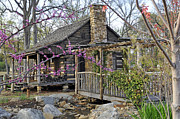 Cabin Wall Prints - The Historic Gosnell Log Cabin  Mauldin SC Print by Willie Harper