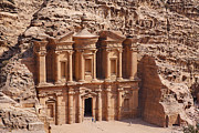 Petra Metal Prints - The Monastery at Petra in Jordan Metal Print by Robert Preston
